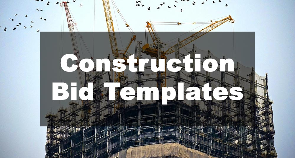 Featured Image: Construction Bid Template Examples