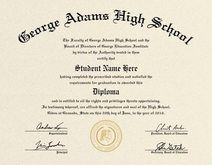 high school diploma template word