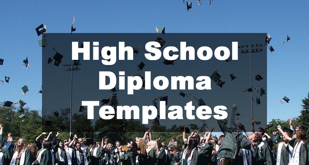 Featured Image: High School Diploma Template Examples