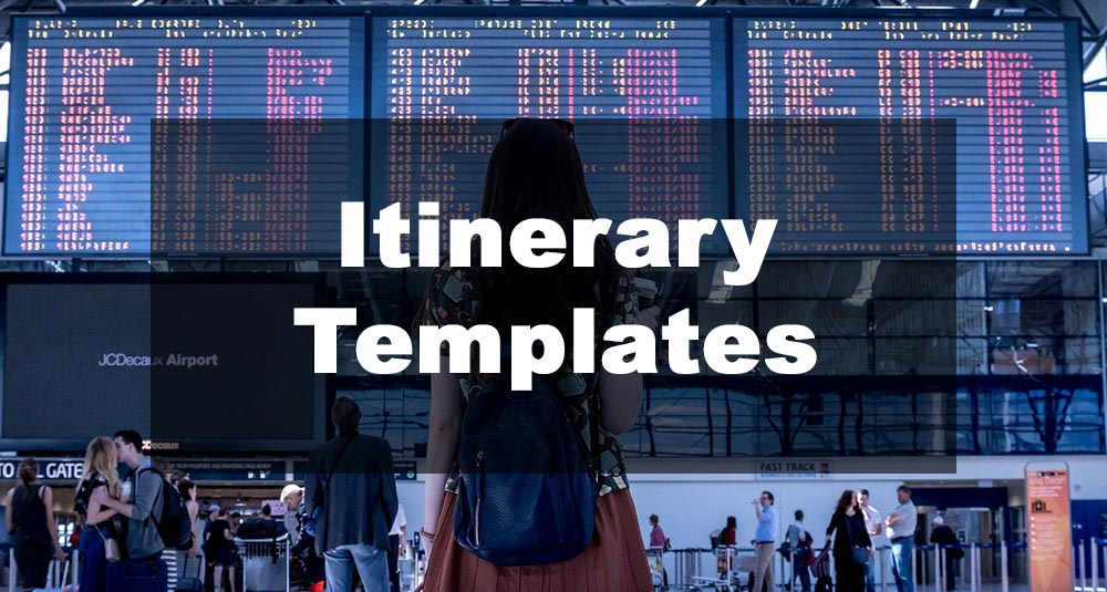 Featured Image: Itinerary Template Examples