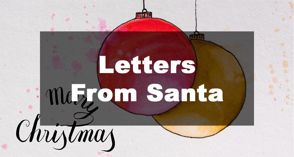 Featured Image: Letters From Santa Examples