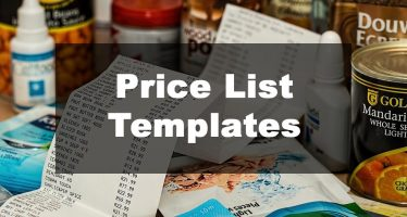 Featured Image: Price List Template Examples
