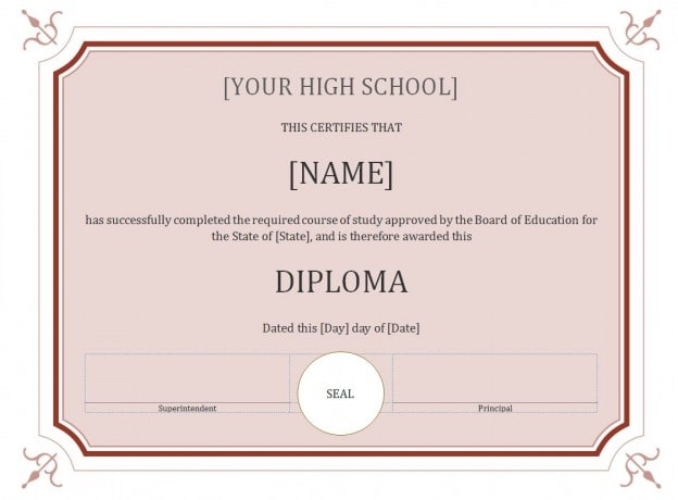 Printable template to create certificate