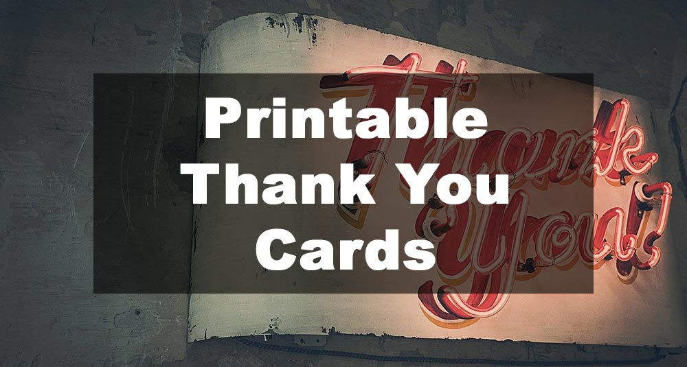 Featured Image: Printable Thank You Card Examples