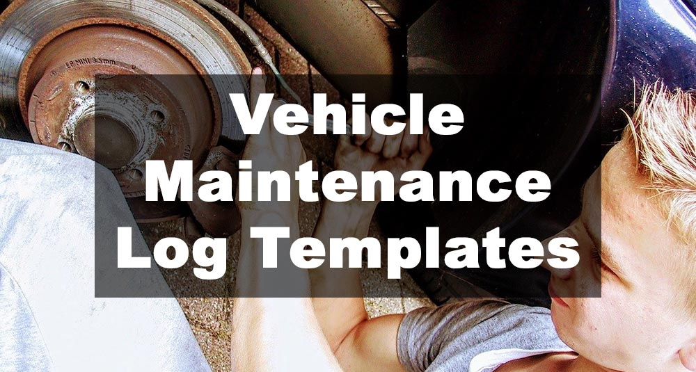 Feautred Image: Vehicle Maintenance Log Template Examples