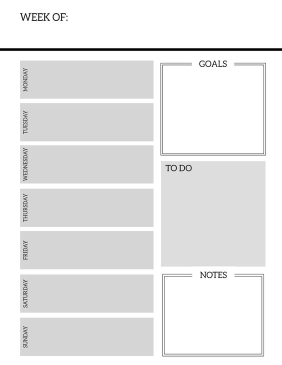 Simple planner with goals, todo and notes options